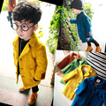 The spring and autumn a woolen coat boy small children coat Long windbreaker baby winter cotton padded jacket