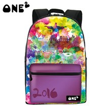 2016 Мода Граффити Дизайн Печать Рюкзак для женщин повседневная рюкзак для средней школы студент рюкзак сумка граффити рюкзак