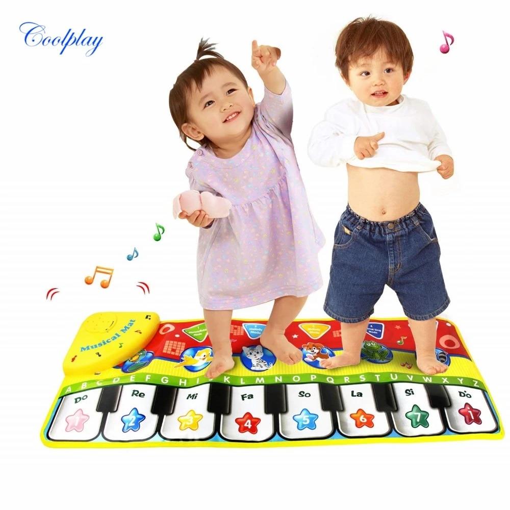 coolplay tapis de piano pour bebe 70x27cm pour nouveau ne musique jouet educatif