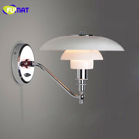 FUMAT Wall Lamps Chrome Wall Sconces Modern Wall Lamp Bedroom Bedside Light Bathroom Lamp Fixtures Mirror Light Nordic