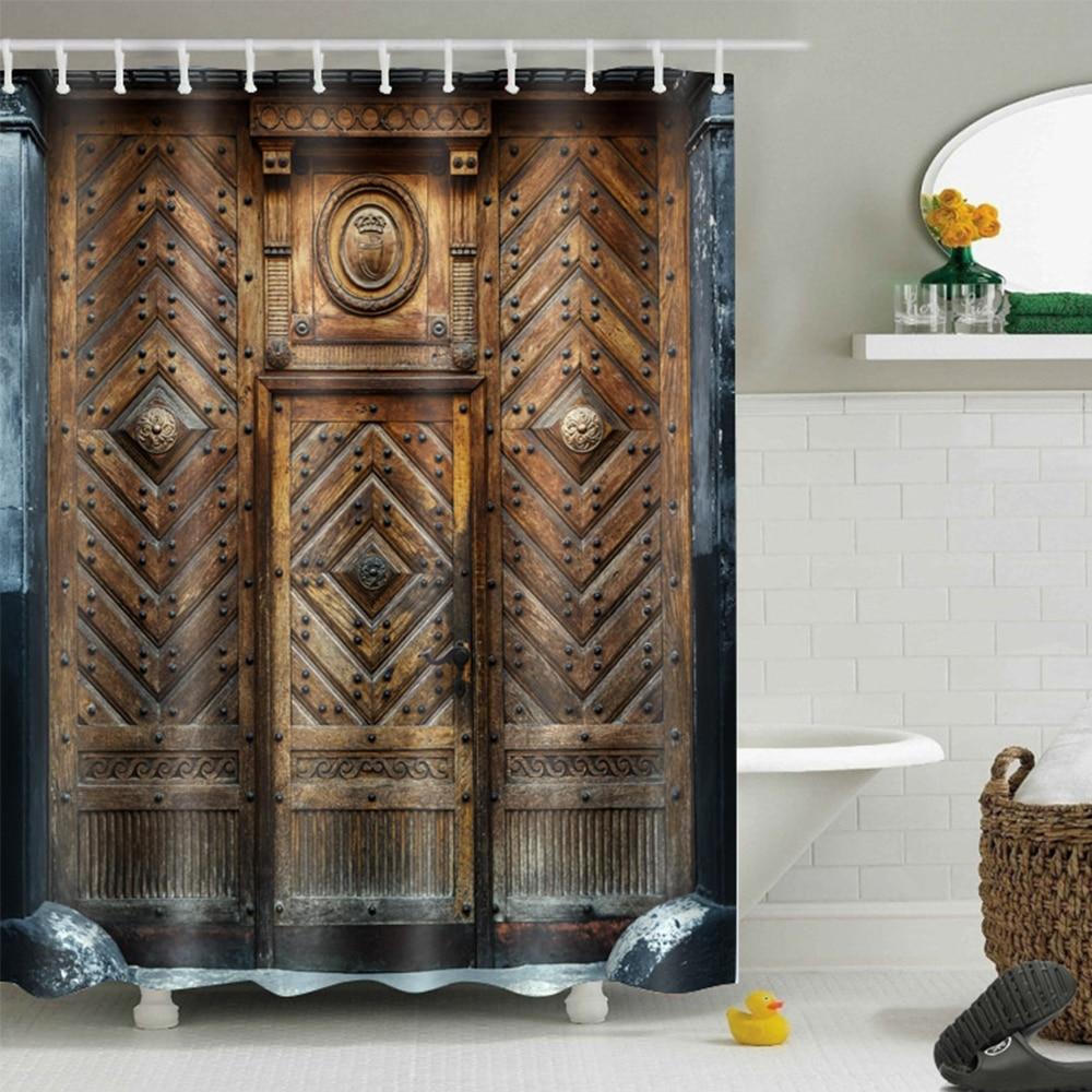LB Extra Long Rustic Vintage Wood Barn Door Waterproof