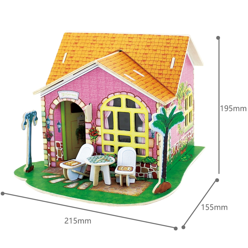 US $18 83 43% OFF|Robud Living Room Doll House Furniture Inside Miniature  Wooden Assembly Dollhouse Toy Hobbies Model Building for Children DV182-in