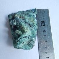 Натуральный камень ручной работы ящерица драгоценный бирюзовый, неограненный 87x62x27 мм 118,32 г модные ювелирные изделия Человек DIY ювелирный а