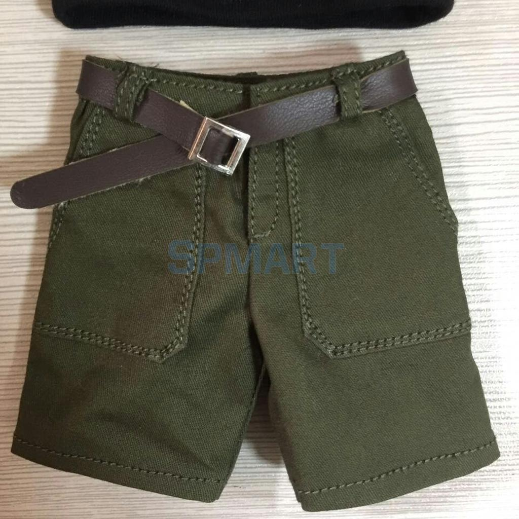 1/6 Casual Chino Shorts Pants & Belt Clothes for 12 Hot Toys Enterbay Dragon TTL Male Action Figure