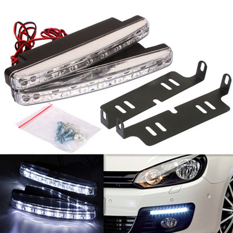 8LED Daytime Car Driving Running Lights DRL Fog Lamps For Toyota Sequoia Soarer Sprinter Carib Succeed Urban Cruiser Vanguard for lexus rx gyl1 ggl15 agl10 450h awd 350 awd 2008 2013 car styling led fog lights high brightness fog lamps 1set