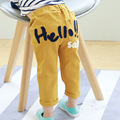 2017 Children Pants Spring Autumn New Arrival Baby Boys Girls Casual Trouser HELLO Embroidered Medium Small Children Long Pants