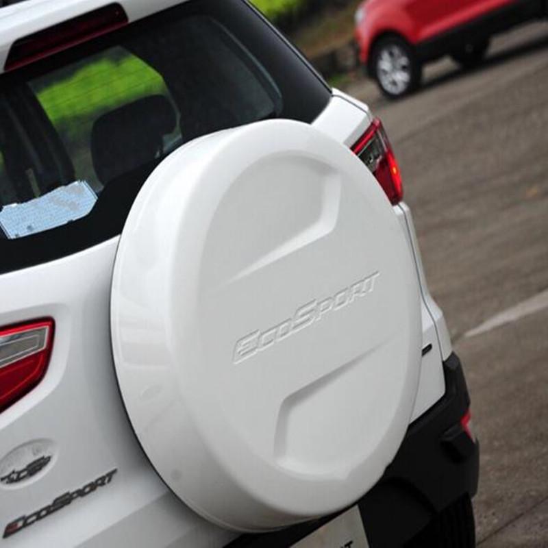 6Color High quality ABS Spare Tyre Cove  Plastic Spare Tire Cover Fit For 2014 2017 Ford ECOSPORT|ecosport|ecosport ford|  - title=