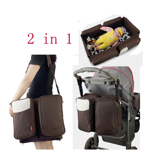 ФОТО Large Capacity Multi-function Mummy bag 2 in1 Baby Bed Portable Folding Travel Crib Baby Beds