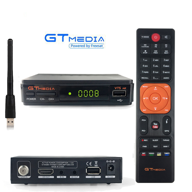 US $28 0 20% OFF|South America GTmedia V7S DVB S2 Satellite Receiver Tv  Tuner set top box Freesat Receptor Cline Decoder Biss Vu Youtube USB PVR-in