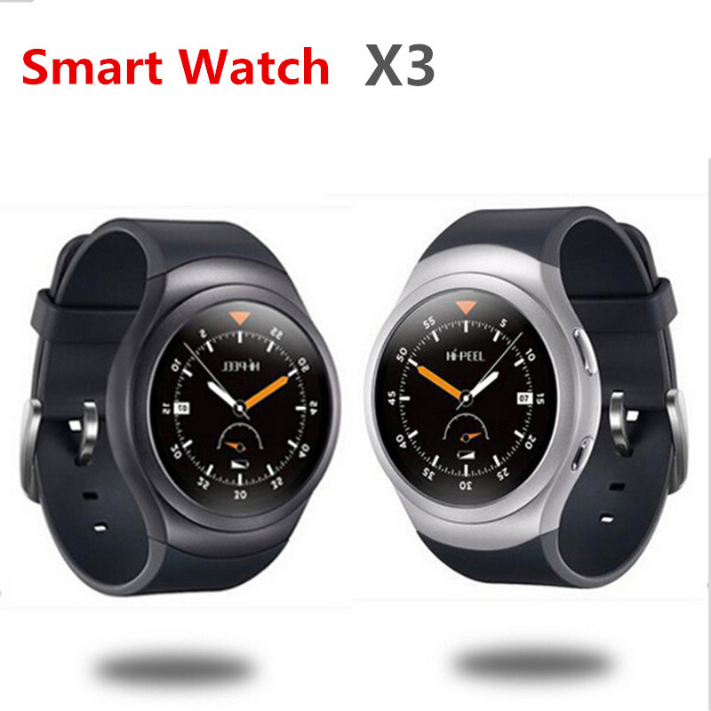 GoldenSpike X3 Android 4.4 MTK6580 Quad Core Bluetooth Smart Watch 512MB+4GB Heart Rate Smartwatch Clock For iOS Android PK KW88 slimy bluetooth smart watch android mtk6580 quad core 1 39inch 1g 16g i4 heart rate wristwatch for android ios smartphone