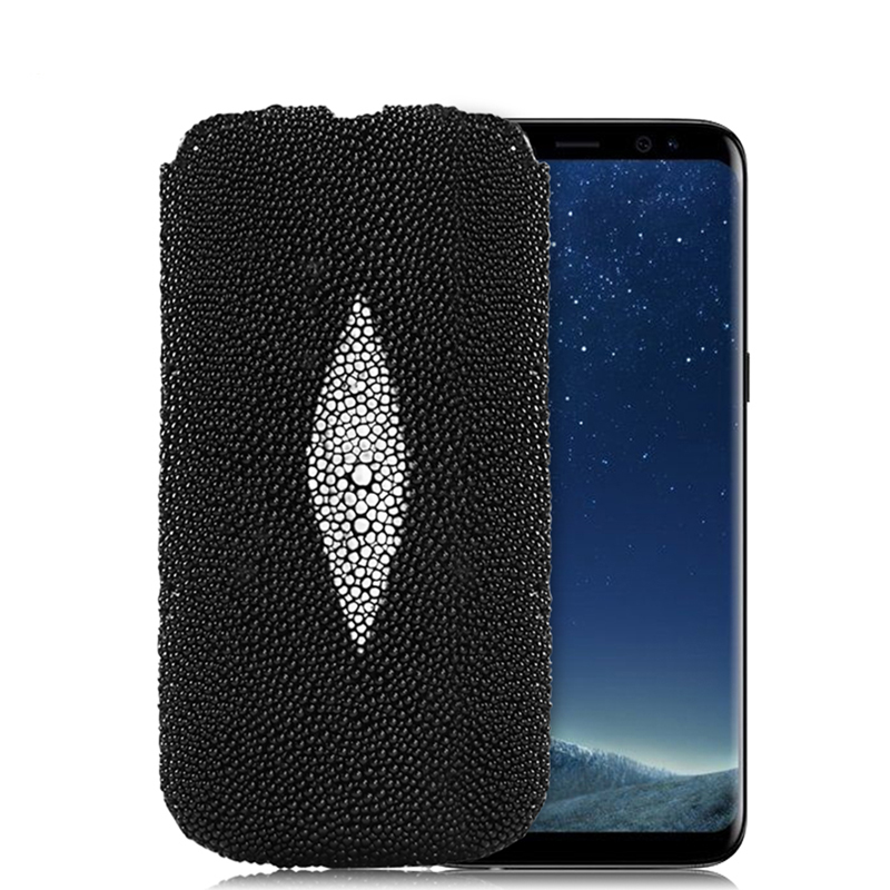 Моды натуральная жемчужина рыбы кожи ската кожаный чехол для Samsung Galaxy Note 8/S8/S8 плюс роскошный флип чехол Сумки Телефонные чехлы