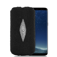 Fashion Genuine Pearl fish Stingray Skin Leather Case For Samsung Galaxy Note 8/ S8/ S8 Plus Luxury Flip Pouch Bags Phone Cases