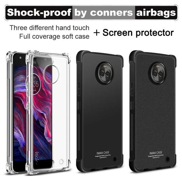 IMAK Phone Cases sFor Motorola Moto X4 Full Cover Airbag Cushion Anti-knock Soft Silicone TPU Cover Case For Motorola Moto X4