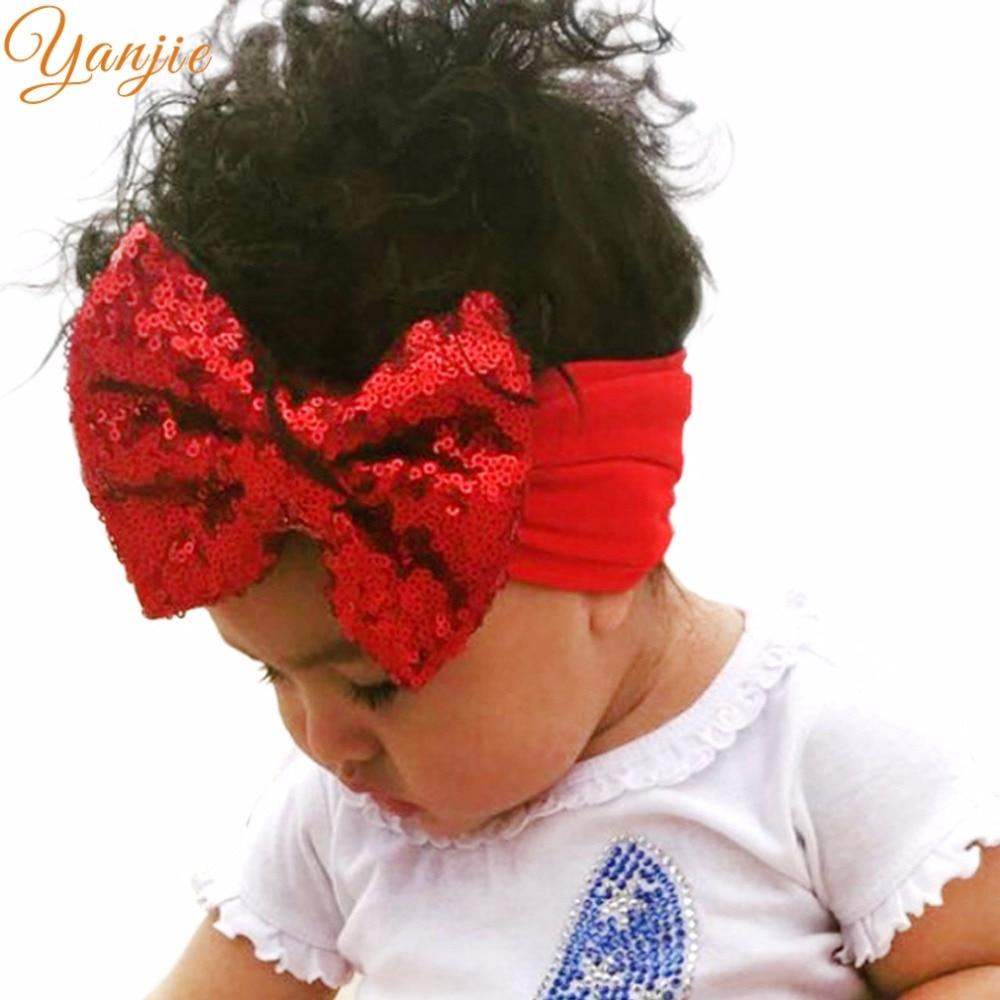 Accessoires Kenntnisreich 1 Pc Mädchen 5 großen Pailletten Haar Bögen Stirnband Großhandel Europäischen Kinder Elastische Headwear Für Kinder 2019 Neue Ankunft Haar Zubehör Mädchen Kleidung