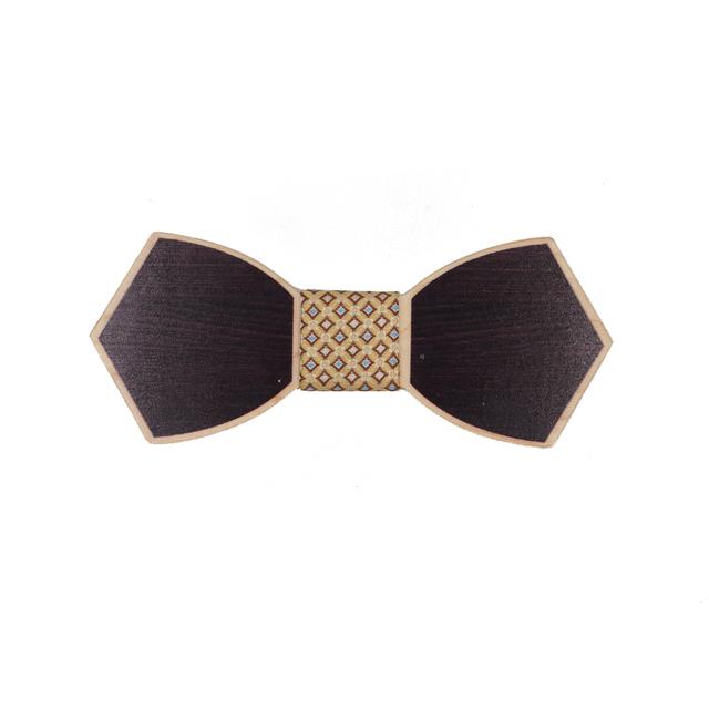 Mens Plaid Patrón de Madera Forma de La Mariposa Pajaritas para los Trajes De Boda corbata de Lazo Para Hombre de La Novedad De Madera Pajarita Corbata Bowknots