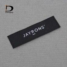 Пользовательские марки одежды этикетки собственный логотип тканые этикетки и бирки 1000 шт./лот