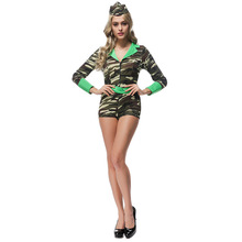 ADULT ARMY GIRL SOLDIER FANCY DRESS COSTUME SEXY LADIES WOMENS UK MILITARY