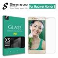 100% original protetor de tela premium de vidro temperado para huawei honor8 seyisoo honor 8 2.5d 9 h temperado película de proteção