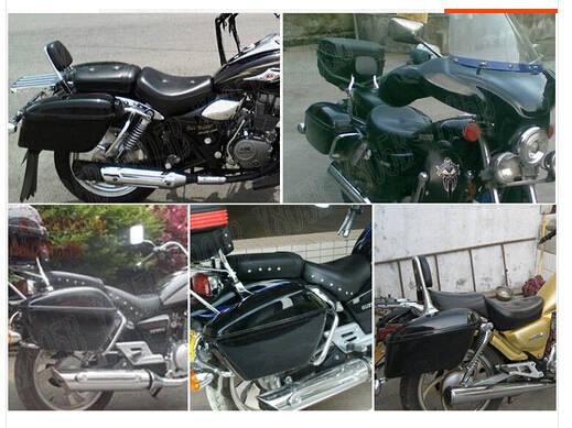 US $170 97 6% OFF|Motorcycle Hard Saddlebag Trunk Bag Luggage Tail Light  Rail Bracket For Suzuki Boulevard C50 Volusia 800 C90 M109R C109 M50-in