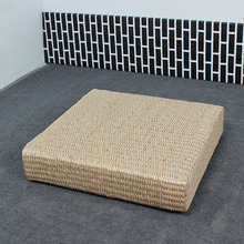 Handmade Straw Tatami Meditation Cushion Square Thickening Cushions Yoga Futons Large Floor Pads