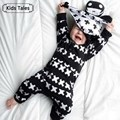 2017 New Autumn Spring cotton baby clothes boys long sleeve X printed baby coveralls newborn baby clothes infant clothes SR062