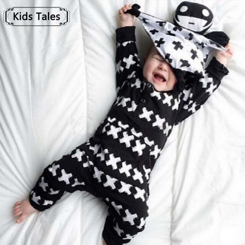 2018 New Autumn Spring cotton baby clothes boys long sleeve X printed baby coveralls newborn baby clothes infant clothes SR062