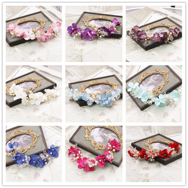 CCBYX Wedding Hair Accessories Headbands Flowers Bands Crowns For Women Tiaras Party DIY Bridal