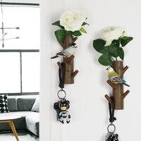 4 Styles American Decorative Hook Resin Model Creative Resin Bird Entrance Animal Key Hook Bird Hook