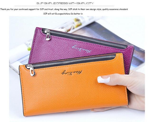 Fashion Ladies  long wallet fashion simple women's wallet wallet Purse