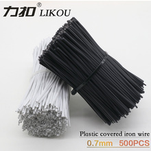 LIKOU Plastic coating Galvanized wire 0.7mm length 80MM 100MM 120MM 150MM 200MM Iron binding wire cable ties 500PCS Black white new ffc fpc cable forward reverse 0 5mm pitch 80 pin length 80mm 100mm 150mm width 40 5mm awm 20624 80c 60v
