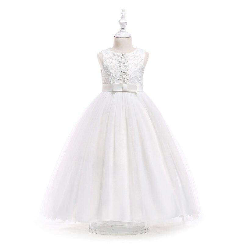 092b9c3f4f318 Girl dress long princess party dresses children 8 10 12 14 16 Years kids  teens clothing teenagers lace girls wedding dress