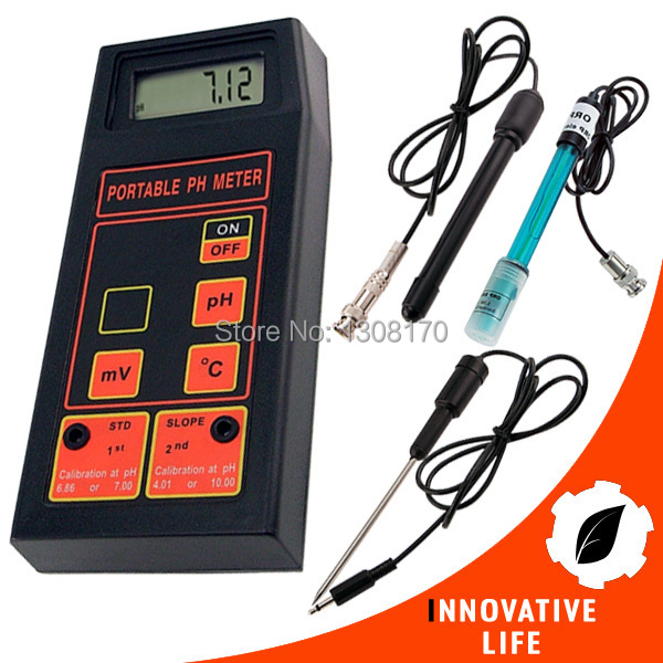 Portable 3-in-1 High Accuracy pH/mV/Temp Meter + Replaceable pH & ORP Electrodes + Temperature Probe + 2 Calibration Solutions battery capacity testing electronic load nicd and nimh mobile power supply tester tec 06 lithium battery page 3
