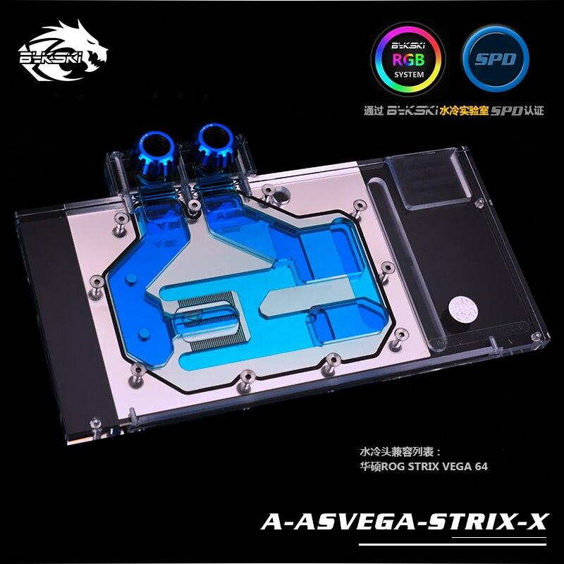 Bykski A ASVEGA STRIX X ASUS ROG STRIX VEGA 64 graphics card Water Cooling block