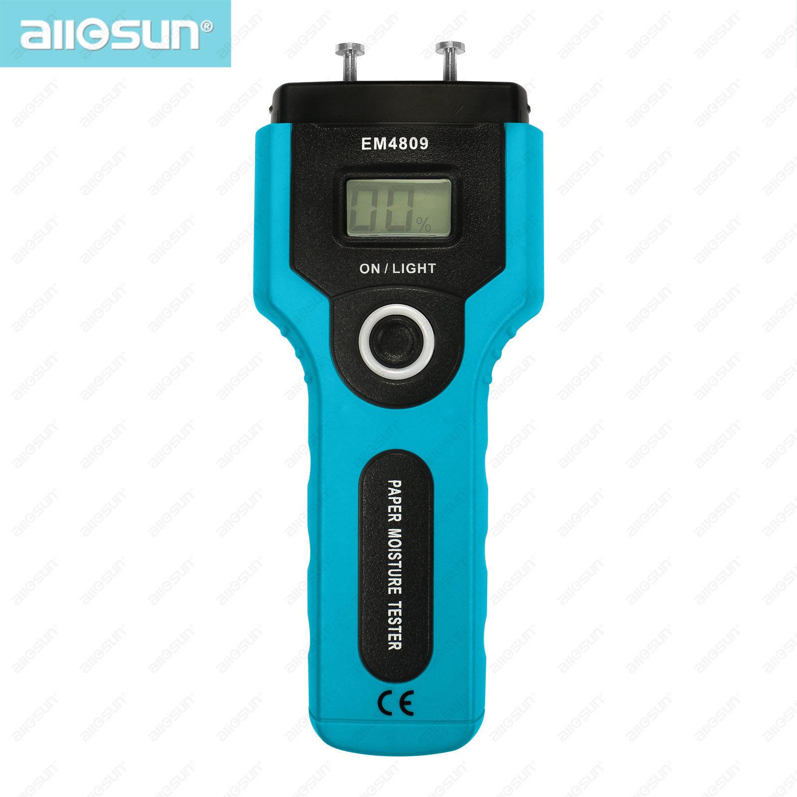 all-sun EM4809 Stable Paper Moisture Meter Non-destructive Probe Paper Hygrometer Practical Moisture Tester
