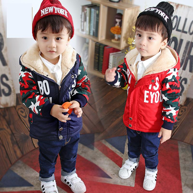 2018 New Baby Winter Coats Children Hoodie Plush Warm Clothes Boys Warm Outwear Jackets Fashion Windproof Cotton Clothes Girls new spring teenagers kids clothes pu leather girls jackets children outwear for baby girls boys zipper clothing coats costume