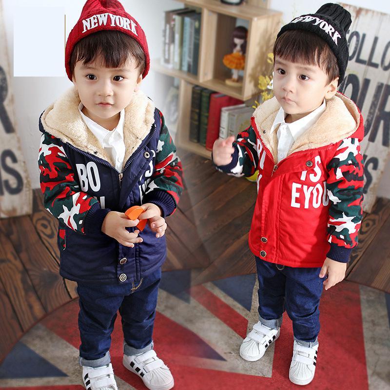 2019 Neue Baby Winter Mäntel Kinder Hoodie Plüsch Warme Kleidung Jungen Warme Outwear Jacken Mode Winddicht Baumwolle Kleidung Mädchen