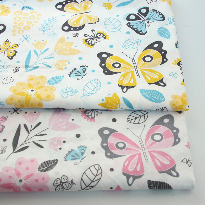 Butterfly Printed Cotton fabric DIY sewing uphostery craft for Baby&Children Quilting Sheets Dress Material|Fabric|   - AliExpress