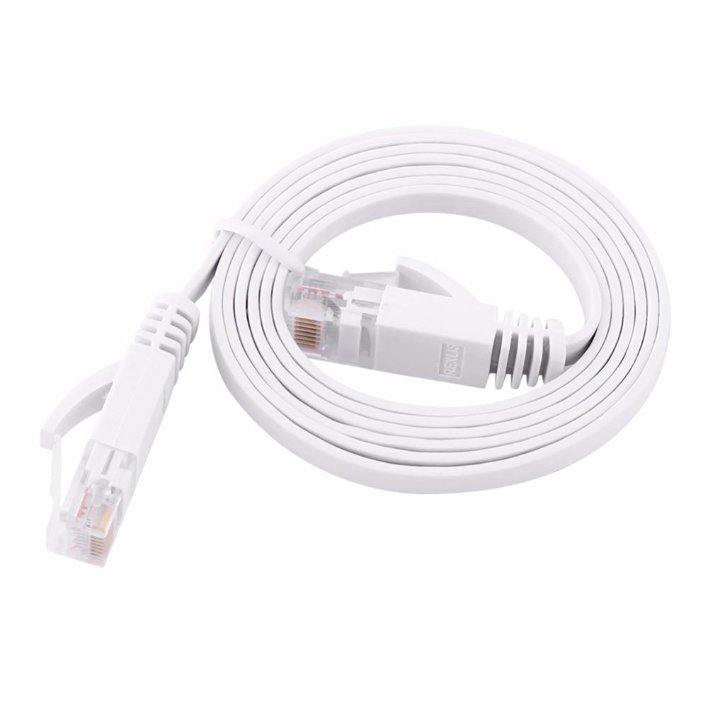 Универсальный высокоскоростной белый плоский сетевой кабель Ethernet CAT6 LAN RJ45 1 м 2 м 3 м 5 м 10 м Шнур для ПК ноутбука