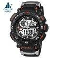 Luxo marca alike 50 m relógio digitais à prova d' água levou silicone esporte militar homens relógio s choque relógios de pulso relogio masculino