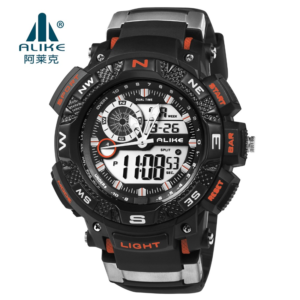 цена на Luxury Brand Alike 50M waterproof digital G watch LED Silicone military Sports watch Men s shock Wrist Watches relogio masculino