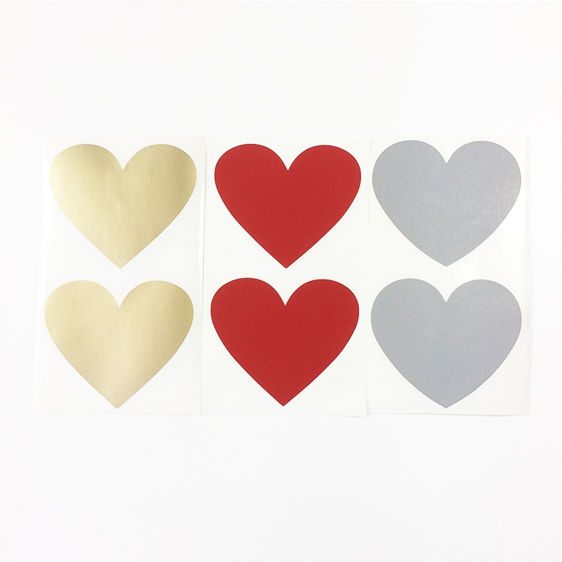 50pcs/lot NEW Cute Heart And Round Design Scratch Coating Sticker DIY Note Sticker  Decoration Label Multifunction