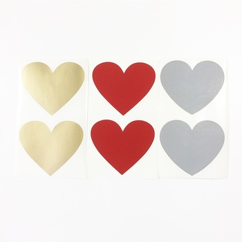50pcs/lot NEW Cute Heart And Round Design Scratch Coating Sticker DIY Note  Decoration Label Multifunction