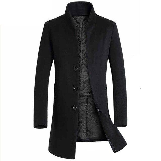 2019 Brand Mens Trench Coat New Designer Men Long Coat Autumn Winter Outwear Coat Windproof Slim Trench Coat Men Plus Size 5XL