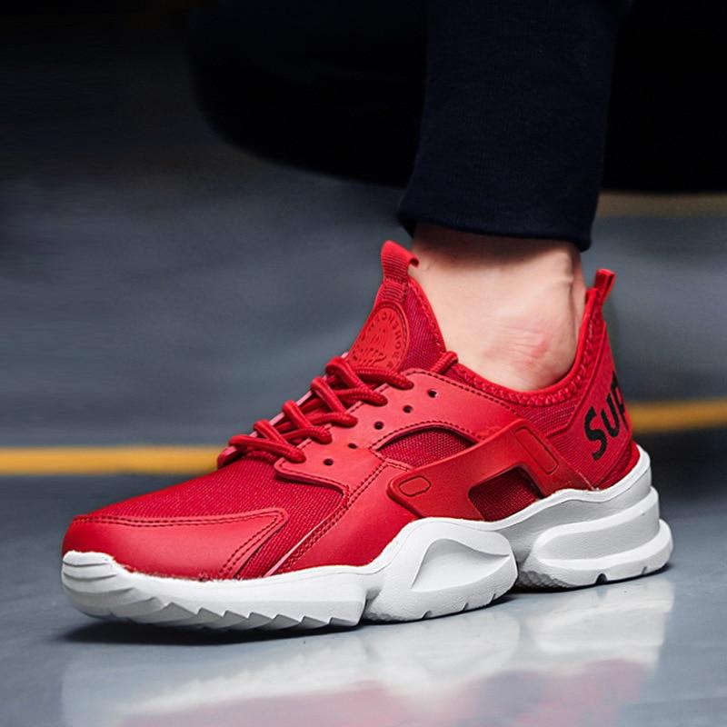 Hombres Del Verano Amantes rojo multiple Negro Adulto 2018 Sneakers Up Acoplamiento Masculino Lace blanco Otoño Zapatos Marca Transpirable Casual Tenis Cómodo wvqFB5BW