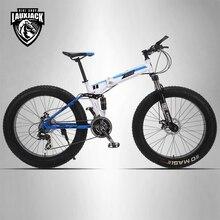 """OBEREN mountainbike zwei-suspension system stahl klapprahmen 24 gang Shimano mechanische bremsen 26 """"x4.0 schwarz räder FatBike"""