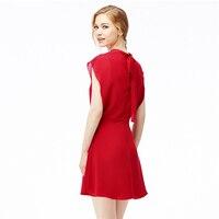 DERUILADY Fashion Office Lady Elegant Dress Sleeveless Chiffon Party Dresses Casual Solid Round Neck Summer Dress