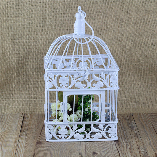 Square Antique Withe Decorative Birdcage Metal Bird Cage Decoration For Wedding Or Home Decor In Cages Nests From Garden On Aliexpress