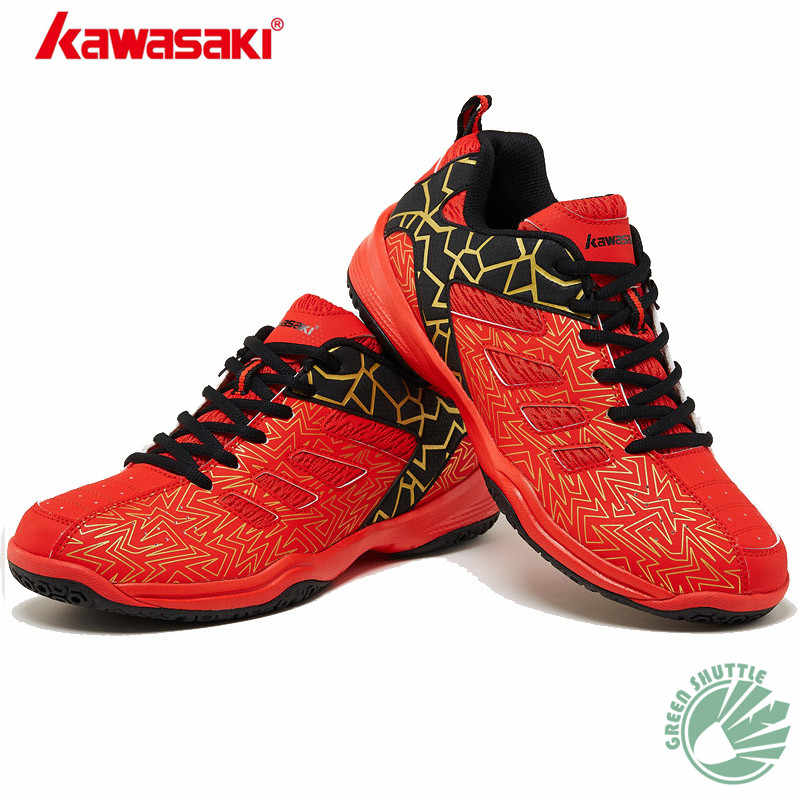 Genuine 2019 Kawasaki Zhuifeng Series K-063 K-075 Badminton Shoes For Men And Women Wear-resisting Rubber Breathability Sneakers