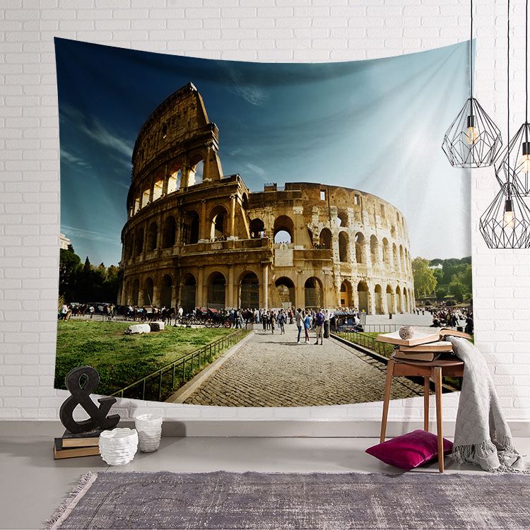 Image 3 - CAMMITEVER Greece Blue White Town European Culture Holiday Tapestries Beautiful Scenery Hippie Wall Hanging Tapestry Home Decor-in Tapestry from Home & Garden
