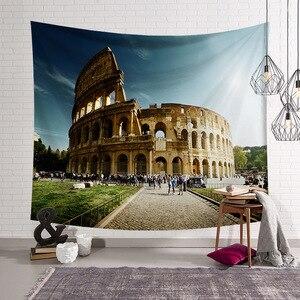Image 3 - Cammitever 그리스 블루 화이트 타운 유럽 문화 휴일 태피스 트리 아름다운 풍경 히피 벽 매달려 태피스 트리 홈 장식